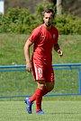 Přípravný zápas mezi Zbrojovkou Brno (červená) Adam Fousek a Jihlavou (modrá)