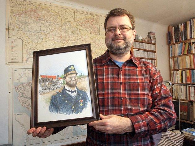 Alan Butschek sbírá železniční lepenkové jízdenky.