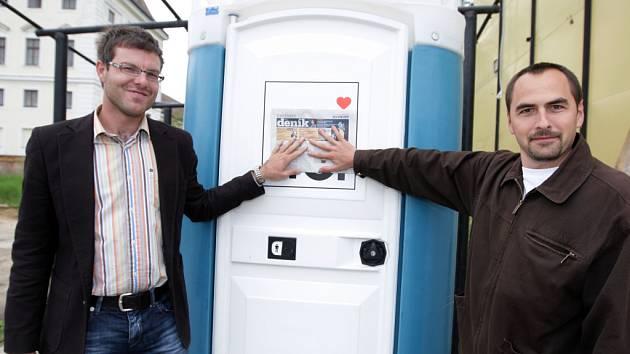 Šéfové brněnského Deníku Rovnost Pavel Macků (vlevo) a Zbyněk Vičar (vpravo).