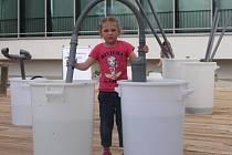 V sobotu děti se svými rodiči poprvé zamířili do venkovní expozice brněnského Vida science centra.