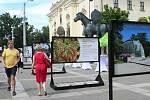 Mendelova univerzita v Brně přestavuje své vědecké projekty výstava vědeckých projektů Moravském náměstí u sochy Jošta.