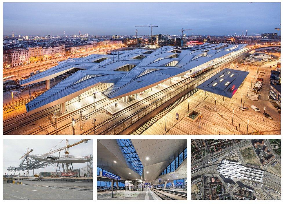 Hlavní nádraží, Vídeň, Rakousko.
