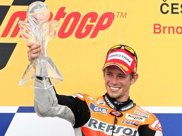 Loňský závod MotoGP v Brně ovládl Australan Casey Stoner, který kvůli zraněnému kotníku letos závod nepojede.