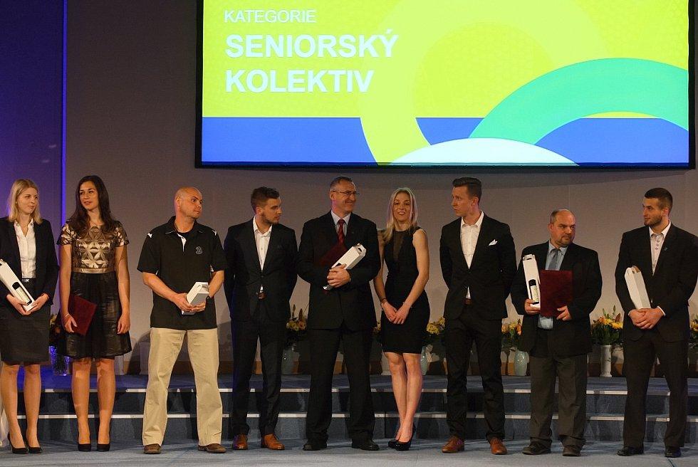 Vyhlašování výsledků ankety Sportovec Jihomoravského kraje za rok 2016.