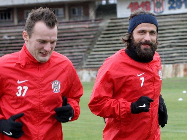 Fotbalisté brněnské Zbrojovky si den před zápasem s pražskou Spartou zatrénovali na stadionu za Lužánkami.
