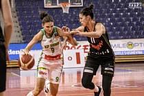 Basketbalistka KP Brno Kateřina Zohnová nastoupila v sobotu proti bývalým spoluhráčkám ze Žabin.