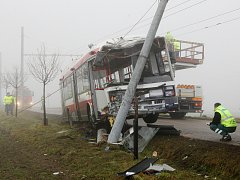 Nehoda trolejbusu MHD mezi Slatinou a Šlapanicemi.