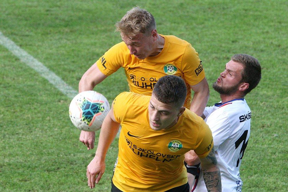 24.6.2020 - 26 kolo F:NL mezi domácí SK Líšeň (bílá) proti FK Baník Sokolov (žlutá)