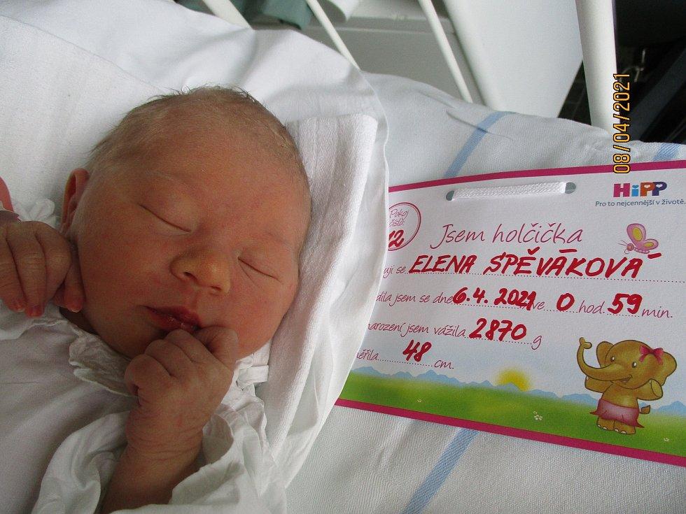 Elena Spěváková, 6. 4. 2021, Velké Bílovice, Nemocnice Břeclav, 2870 g, 48 cm