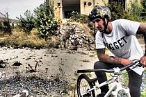 Freestylový biker Damjan Siriški.