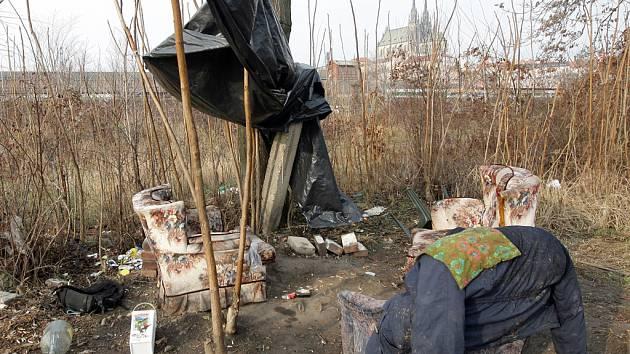 Bezdomovci mají v centru originální bydlení.