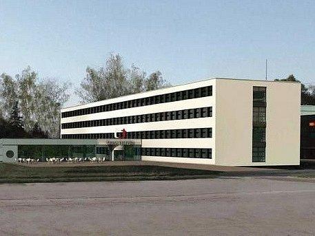Vizualizace podoby nového studia ČT v Líšni