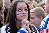 Brněnské Moravské náměstí v sobotu bouřilo. Hokejoví fanoušci se ale nedočkali vytouženého vítězství Komety nad Spartou a postupu do finále.