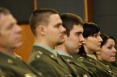 Slavnostní shromáždění zástupců partnerských sdružení a velitelů vojenských útvarů a zařízení posádky Brno.