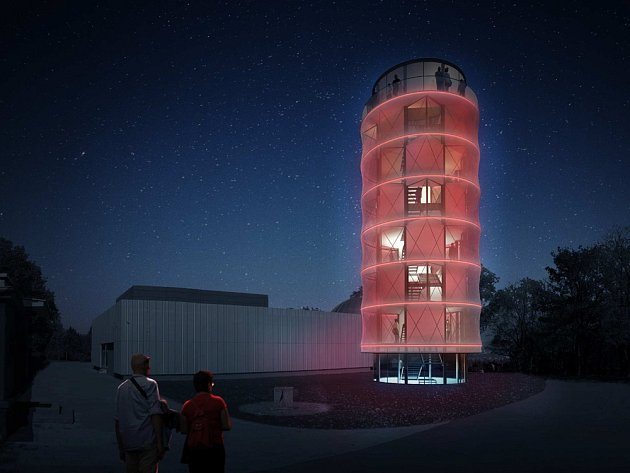 Vizualizace Sluneční věže.
