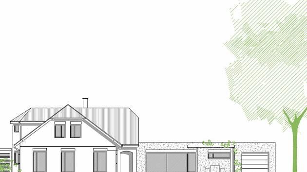 Vizualizace domova pro autisty. Rekonstrukce domu vyjde na 26,5 milionu korun. Bydlení tam najde šest dospělých autistů.