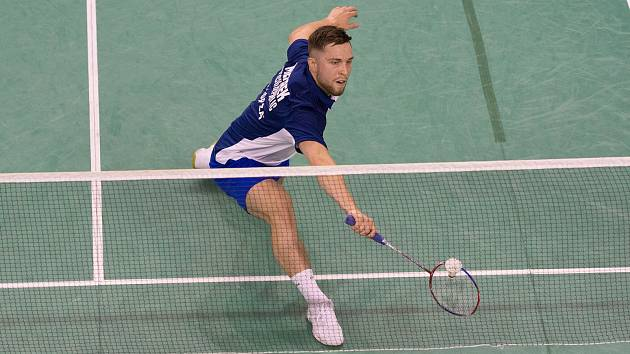 Brněnský badmintonista Adam Mendrek na domácím turnaji vypadl už ve druhém kole.