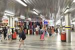 Podchod pod hlavním vlakovým nádražím v Brně.