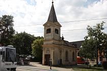 Oprava kaple na Burianově náměstí v Žabovřeskách.