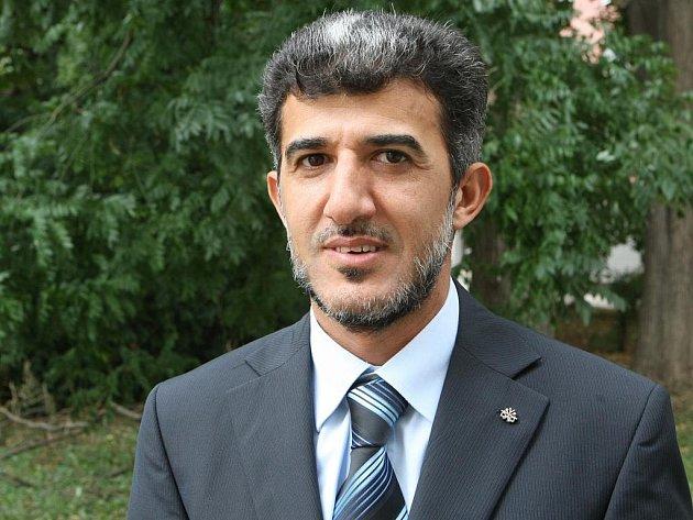 Předseda Islámské nadace v Brně Muneeb Hassan Alrawi.