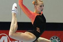 Brněnská gymnastka Jana Komrsková získala na brněnské Grand Prix stříbrnou medaili.