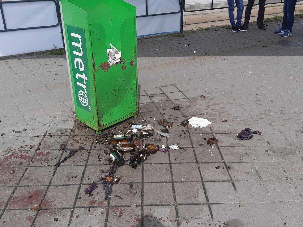 Výbuch pyrotechniky na Staré Osadě.