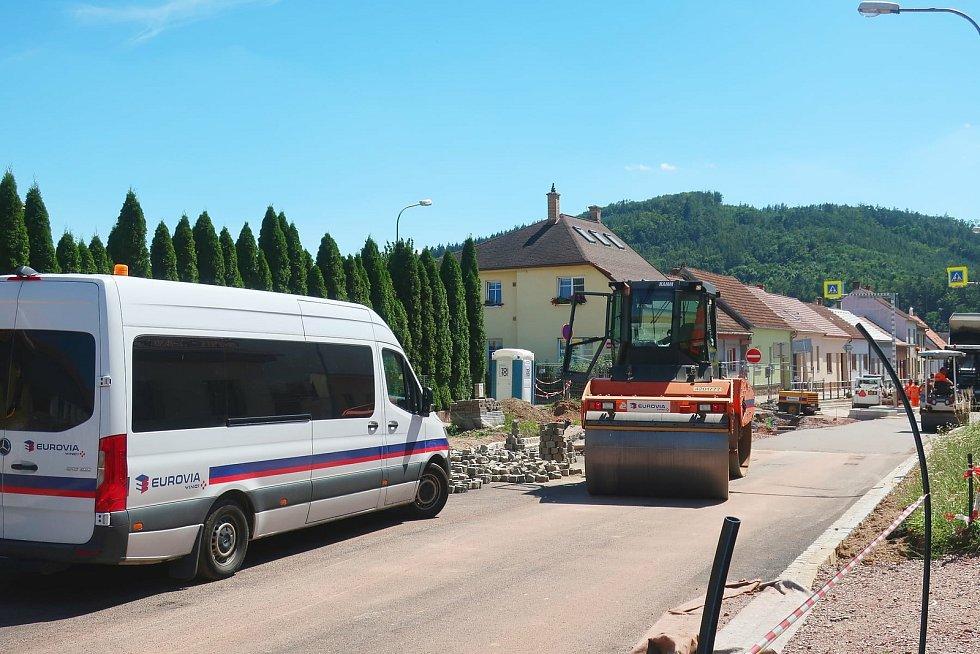 Opravy Legionářské ulice v Kuřimi.