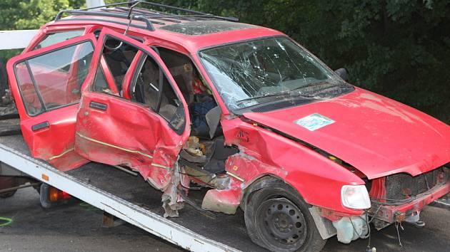 Nehoda v Hradecké ulici při níž zemřela žena.