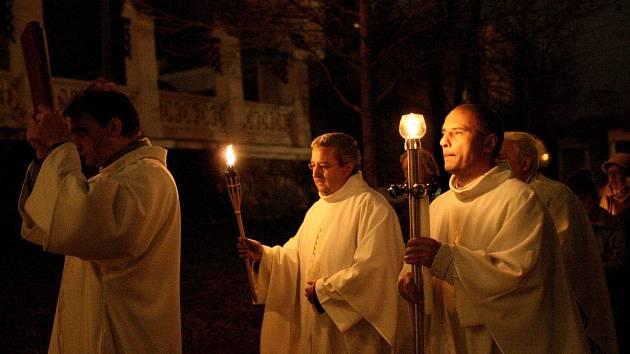Průvod světla v Brně.