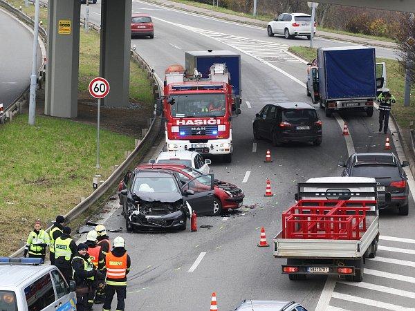 Nehoda vbrněnské Žabovřeské ulici.