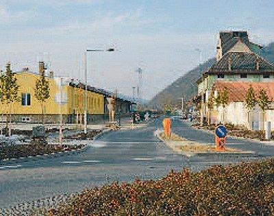 Nová silnice od tišnovského nádraží směrem do Předklášteří.