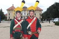 Napoleonovy hry ve Slavkově. Návštěvníci si prohlédli dobové kostýmy i zbraně.