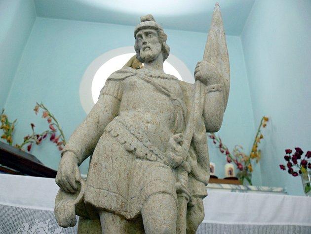 Socha svatého Floriána.