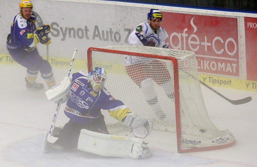 Hokejisté brněnské Komety (v bílém) podlehli v přípravě Zlínu 1:3.
