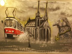 Ilustrační foto: grafitti na nádraží v brněnských Židenicích.
