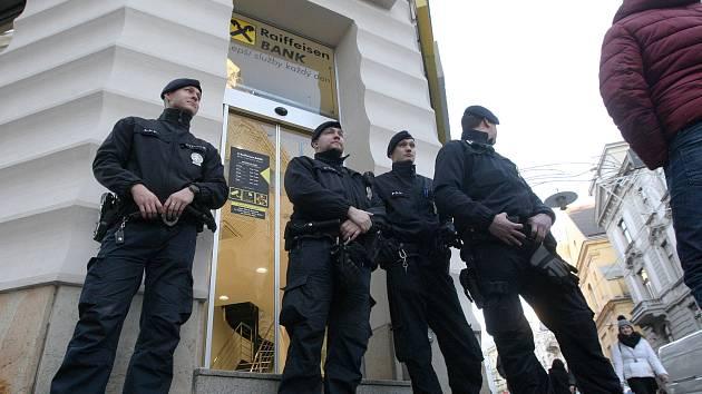 Přepadení Raiffeisenbank v brněnské Masarykově ulici z prosince 2017.