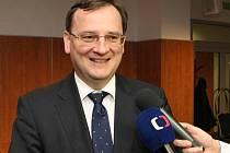 Petr Nečas v brněnském hotelu Avanti.