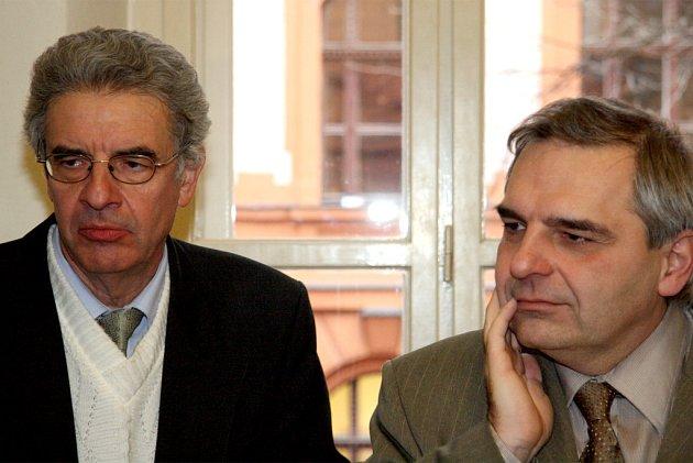 Jiří Adler se svým obhájcem