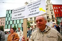 Protestní pochod brněnských zahrádkářů.