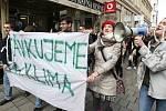 Stávka studentů za klima.