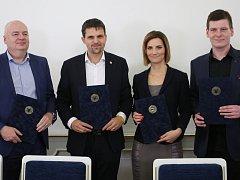 Podpis koaliční smlouvy v Brně.