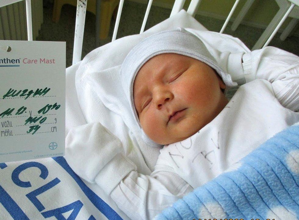 Simon Kuraku, 11. 12. 2020, 4110 g, 54 cm, Perná, Nemocnice Břeclav
