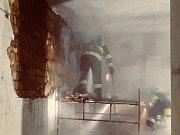 Škoda způsobená ohněm byla minimální.