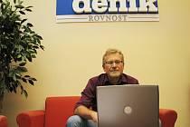 Karel Doležal z ČSSD při online rozhovoru v redakci Brněnského deníku Rovnost.
