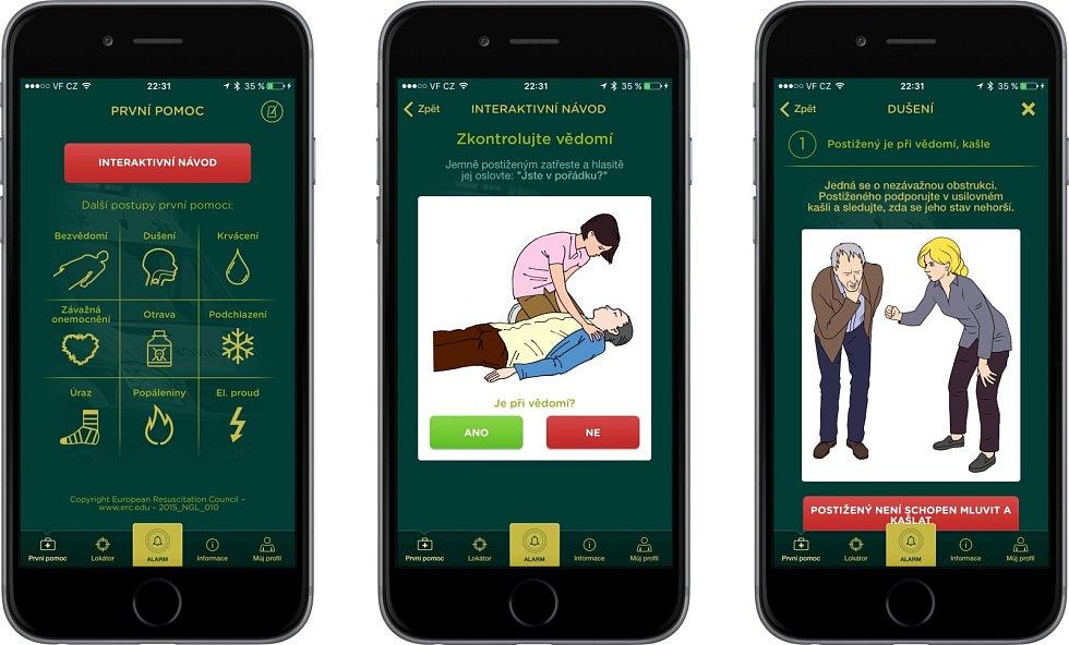 Aplikace Záchranka.