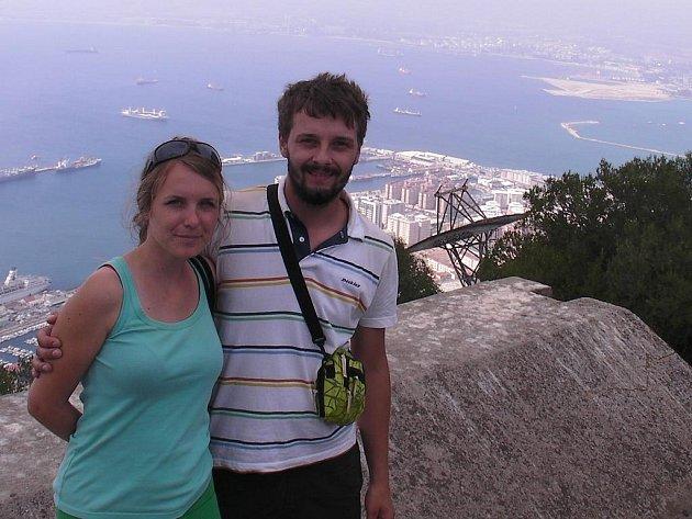 Tatiana Chytilová a Peter Lipovský na Gibraltaru.