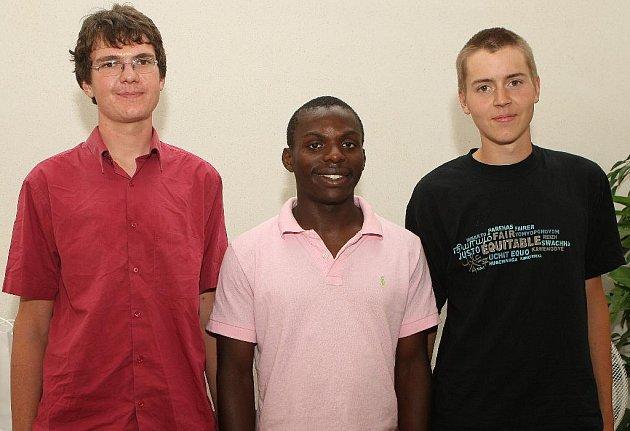 Trojice studentů práv z francouzského Rennes dorazila do Brna.