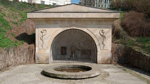 Park Studánka získal jméno podle studánky, na jejímž místě byl roku 1815 postaven empírový Pramen zdraví (Fons Salutis).