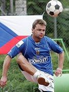 Hrající trenér Sokola Modřice Petr Gulda.