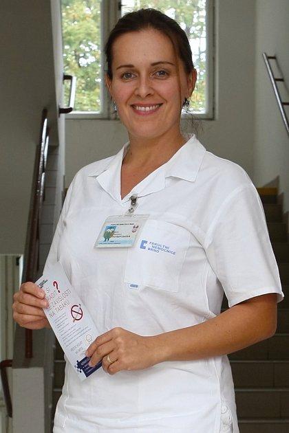 Lékařka Stanislava Potrepčiaková zCentra pro závislé na tabáku Fakultní nemocnice Brno.